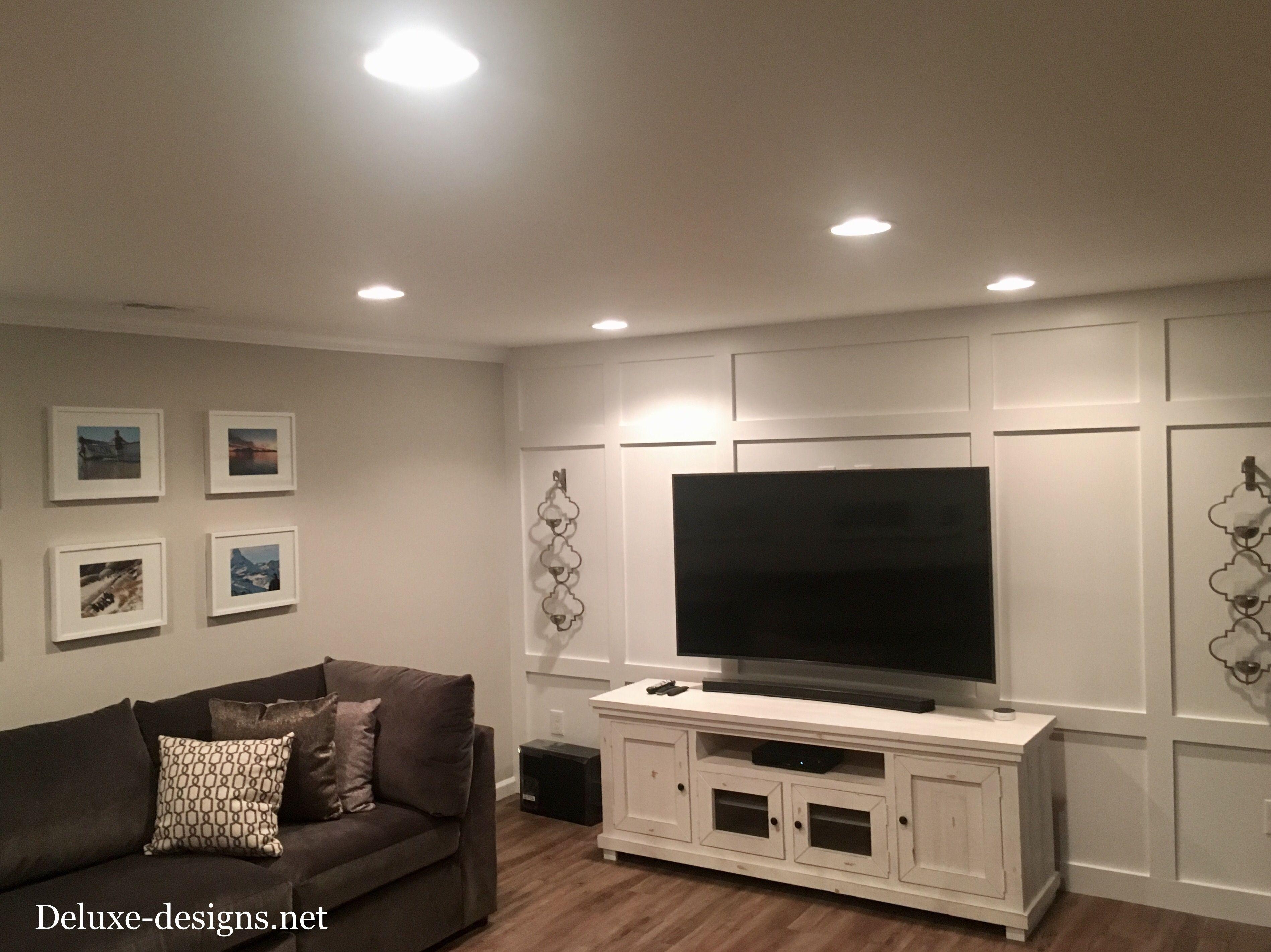 My Basement Board And Batten Feature Tv Wall Basement Living