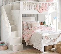 Catalina Stair Loft Bed in 2019 | lexi | Treehouse loft bed, Bed for ...