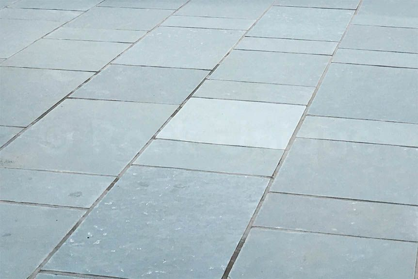 Kotah Blue Limestone Is Slightly Lighter And Bluer Than Our Grey Slate It Has Been Used With Black To Make An Outdoor Chessboard Also