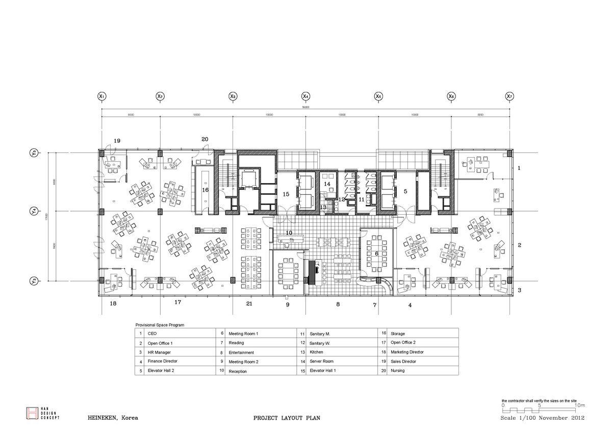 2012 Heineken Layout Office Snapshots Office Floor Plan Office Layout Office Plan