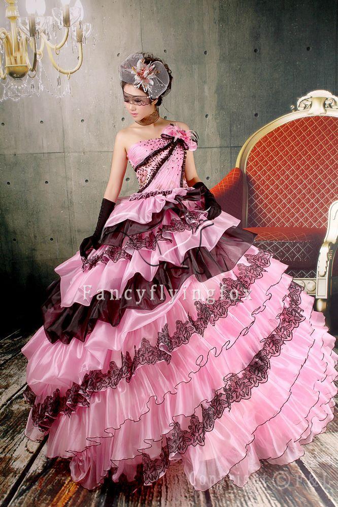 Black Pink Wedding Dresses - Ocodea.com
