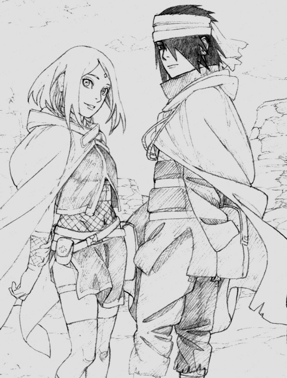 Sasusaku • sasuke • sakura sasuke uchiha anime naruto naruto art naruto shippuden