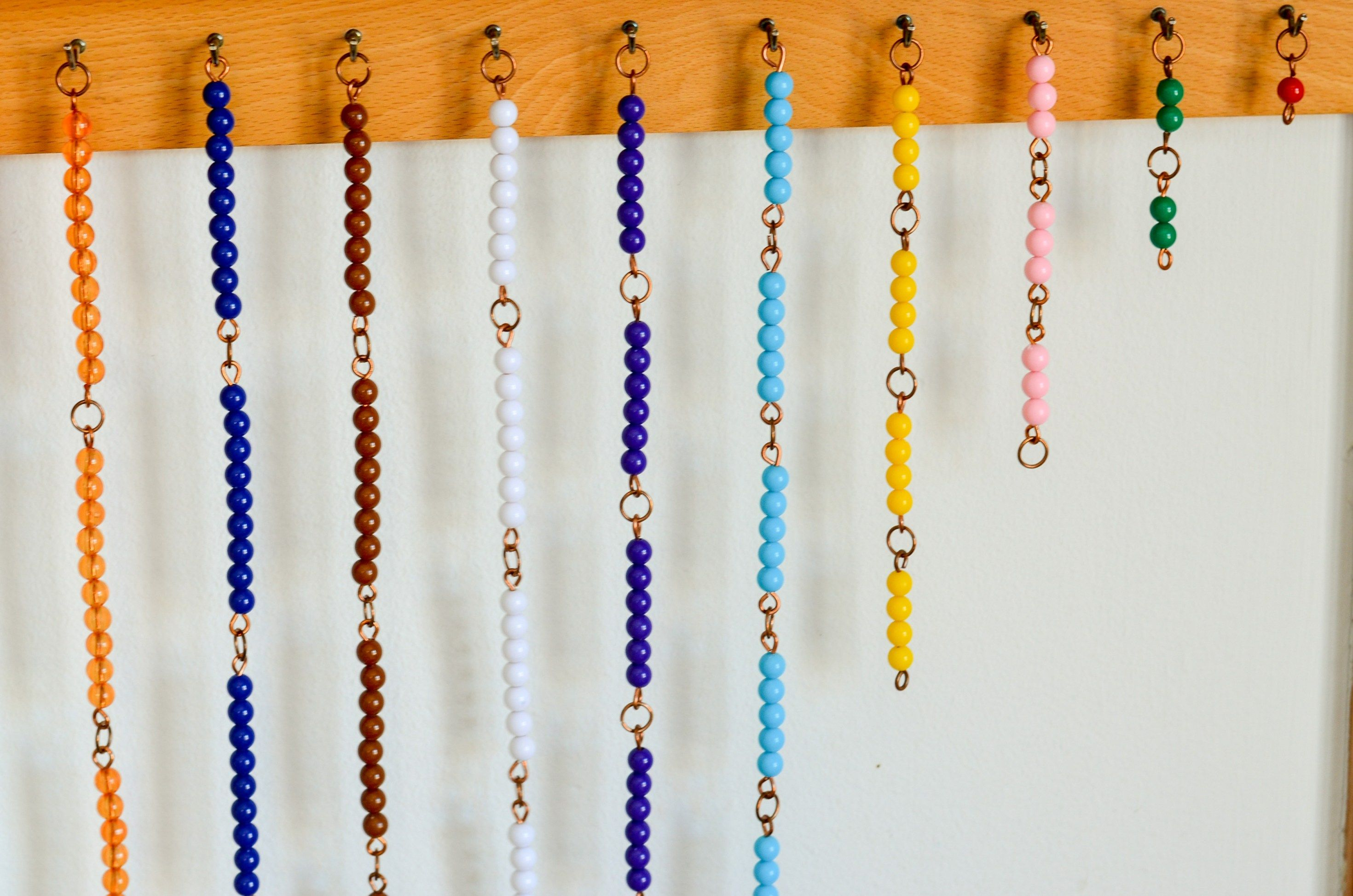 Montessori Short Bead Chains And Squares Skip Counting