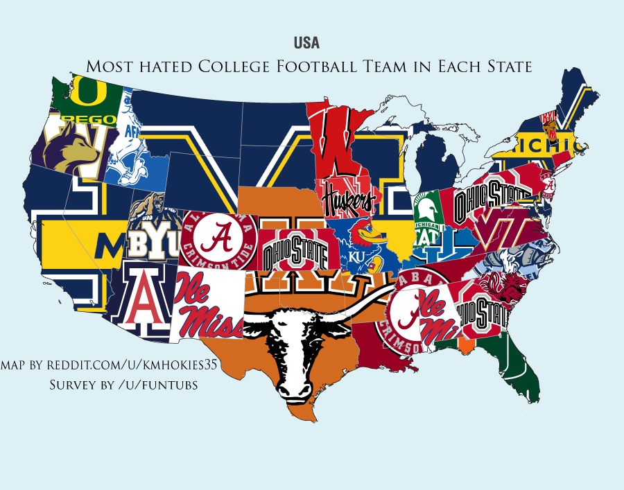 Fbs College Football Stadiums Teams Location Map 24x18 Etsy In 2020 College Football Logos College Football Football Stadiums