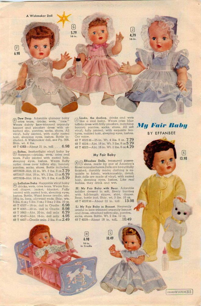 1962 PAPER AD 7 PG Doll Horsman Uneeda Yummy Ideal Thumbelina Popi Chatty Cathy