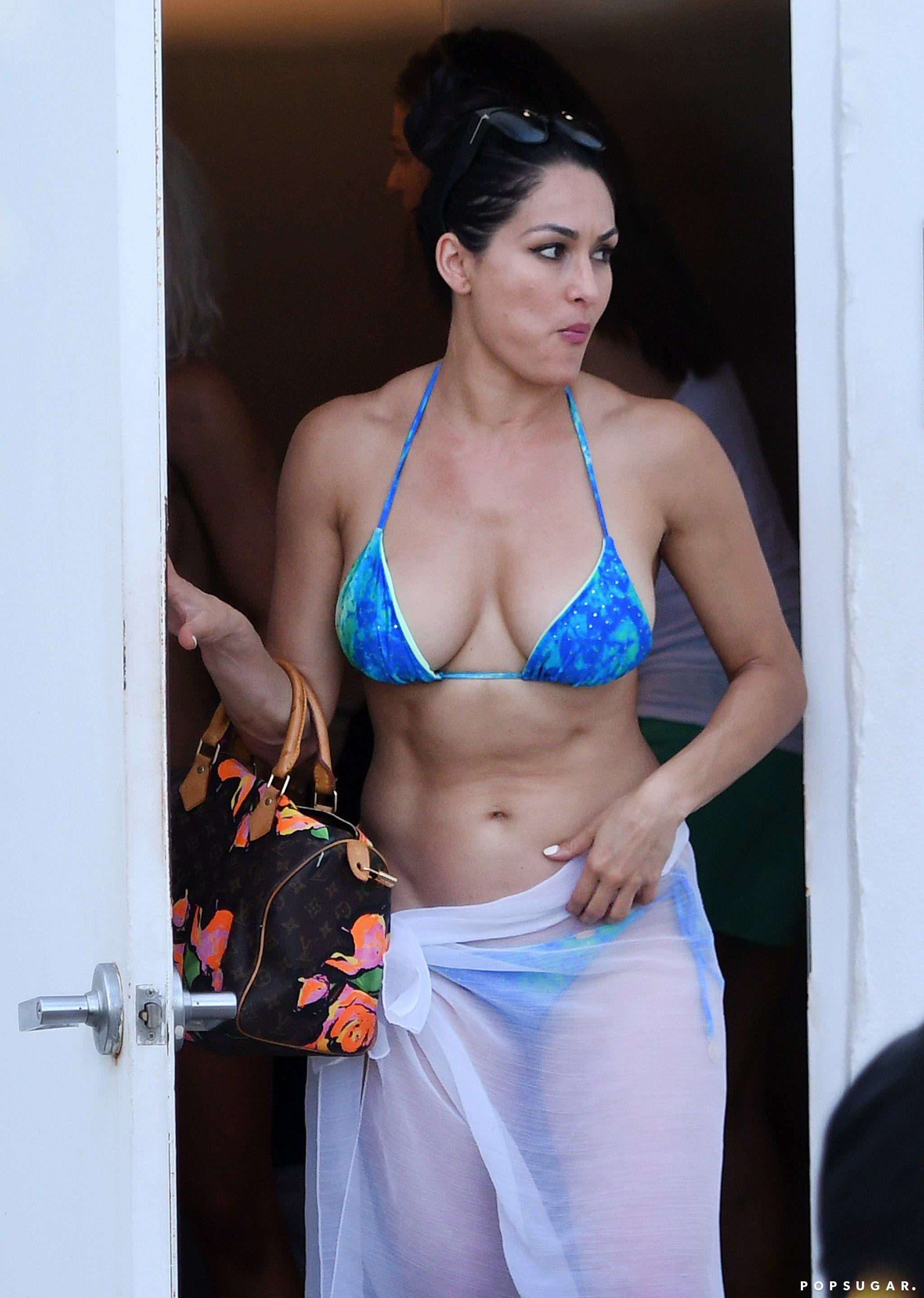 Nikki Bella Slips Into A Sexy Bikini For A Miami Pool Day -4699
