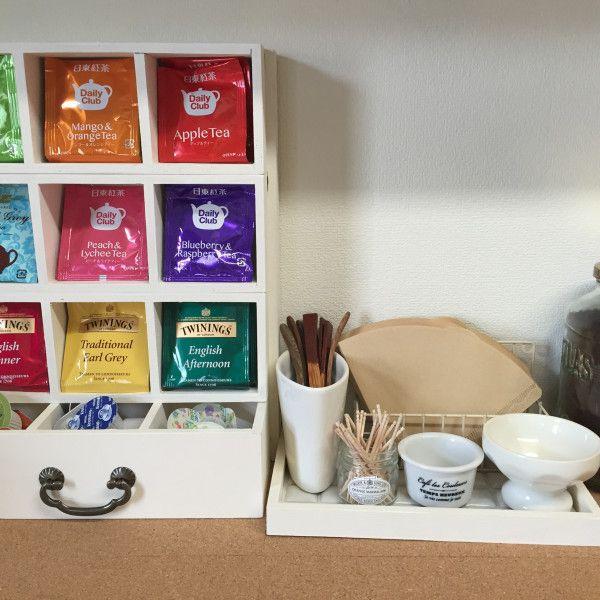 セリアのパーテーションボックスとすのこを使って紅茶ストッカーを作りました 暮らしニスタ セリア 紅茶 パーテーション