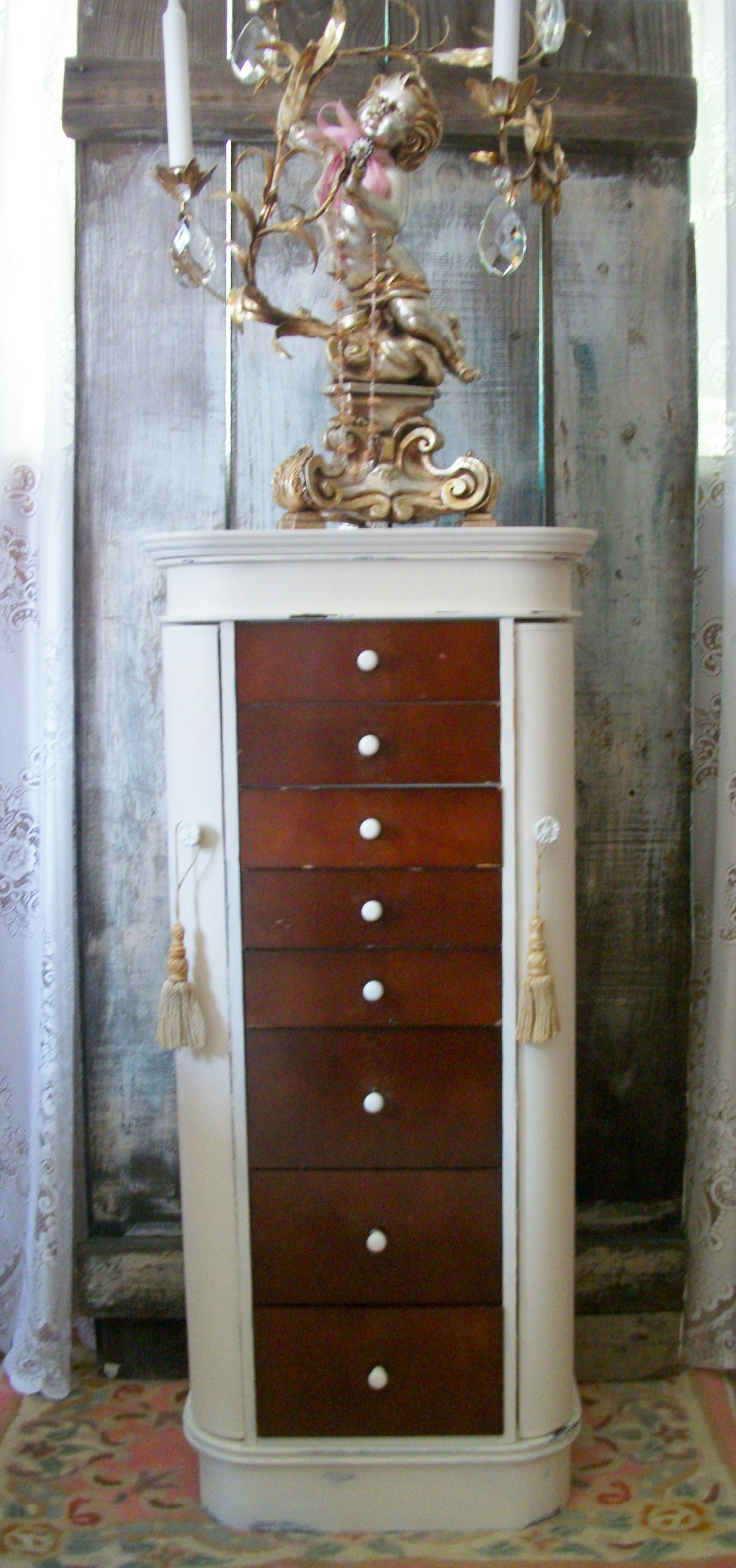 Vintage Lingerie Jewelry Chest Armoire.... Cottage Vintage home ...