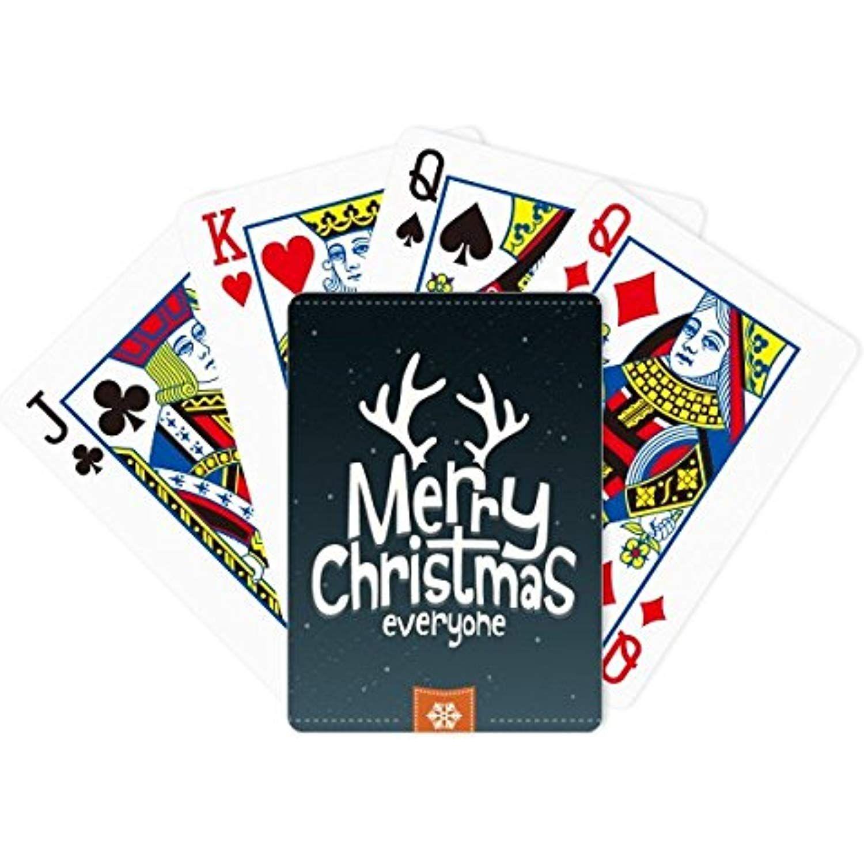 Merry Christmas Reindeer Cartoon Pattern Poker Playing Cards