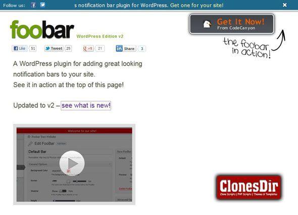 Foobar Wordpress notifications plugin  The alternative to