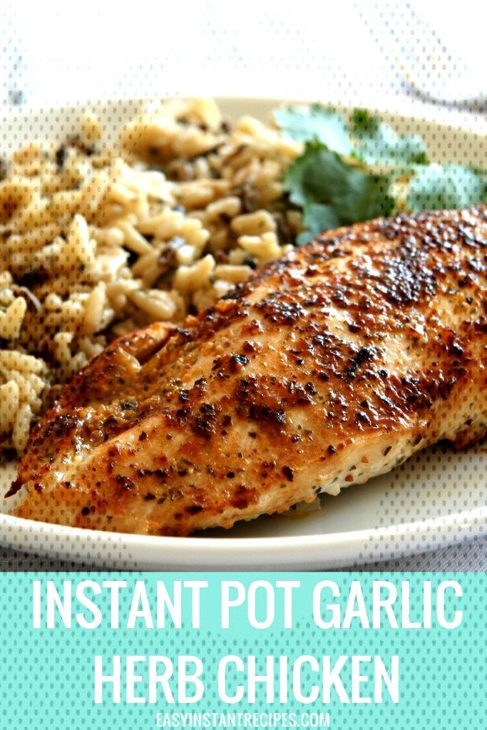 Instant Pot Garlic Herb Chicken