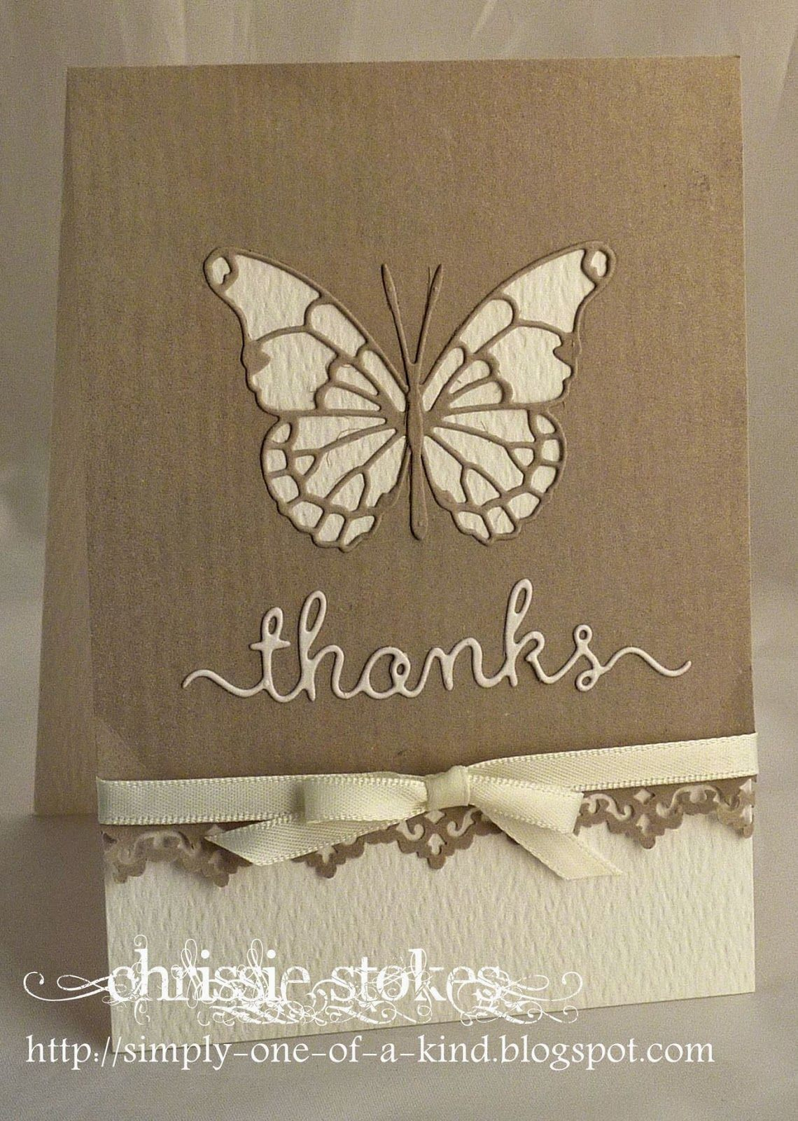 Handmade thank you card from simply one of a kind silhouette