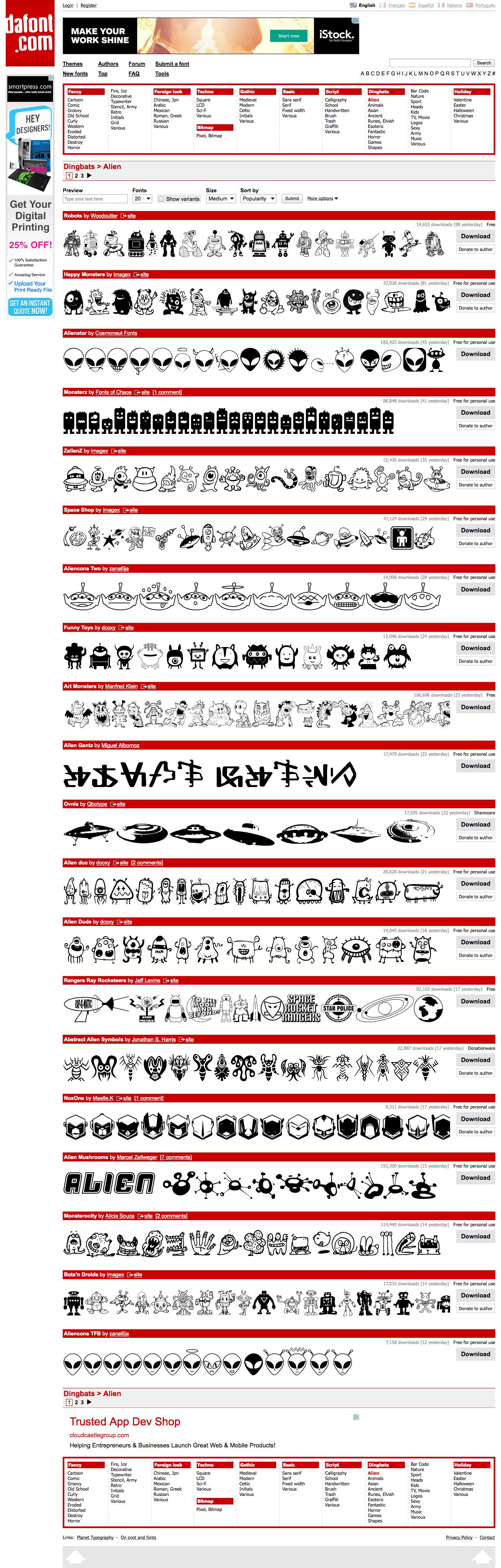 Alien fonts! Free! from dafont.com