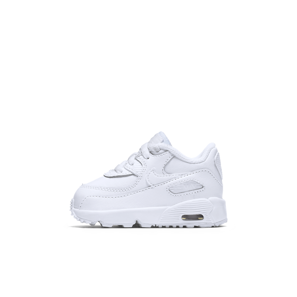 12e73a03f578 Nike Air Max 90 Leather Infant Toddler Shoe Size 10C (White)