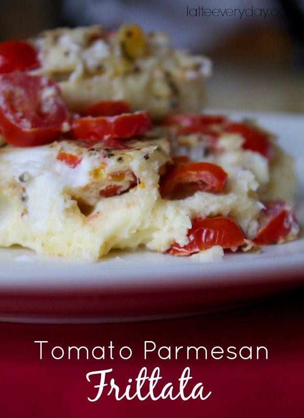 tomato parmesan frittata via #latteeveryday