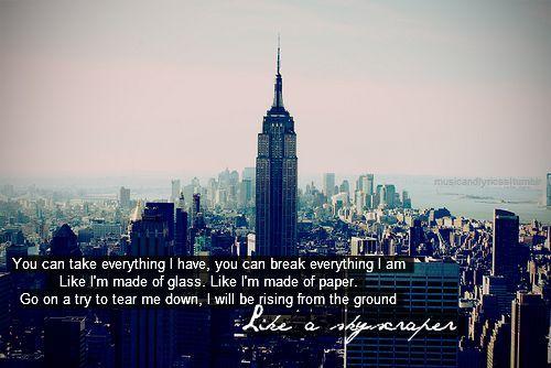 song like a skyscraper
