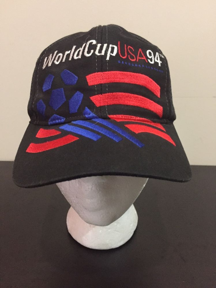 8915451d0bf Vintage Adidas World Cup USA Flag Hat 94 Soccer SnapBack Cap