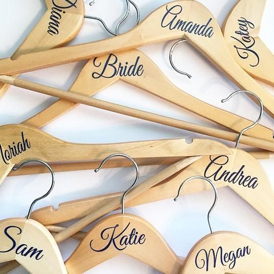 Wedding bridal party vinyl coat hanger decal sticker name or role diy stickers in home furniture diy wedding supplies other wedding supplies ebay