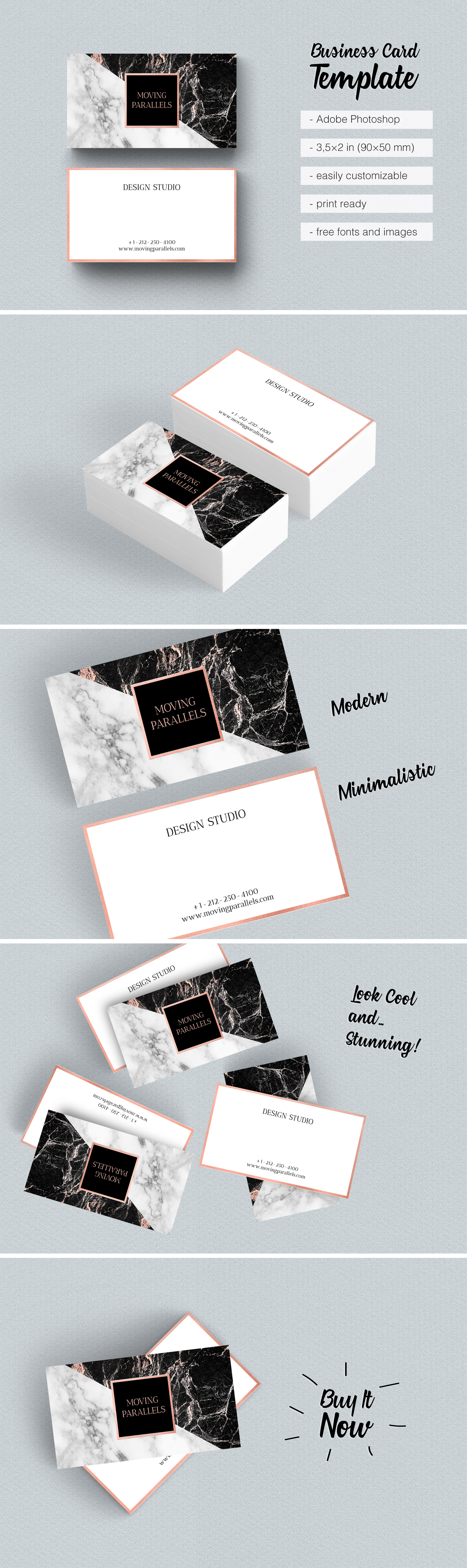 8 Rose Gold Business Card Etsy Is Classy Sophisticated And Elegant Visiting Templates