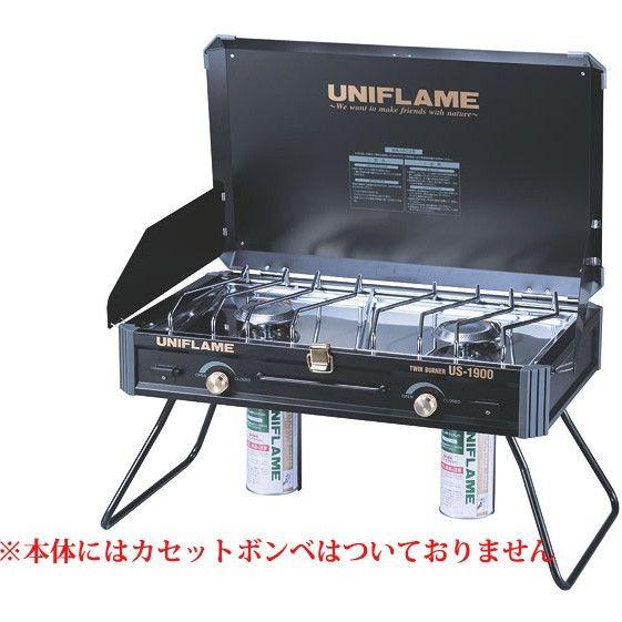 UNIFLAME(ユニフレーム) ツインバーナーUS 1900ブラック (610312
