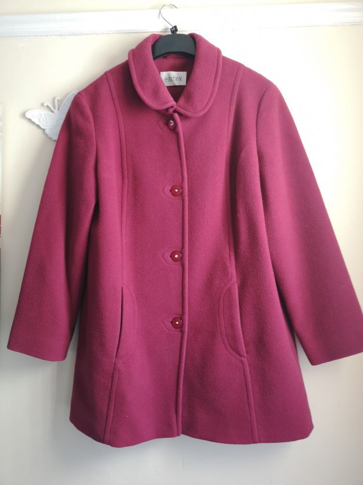 0216d90ef47c9 Eastex Ladies Lambswool Jacket Coat Size 10  fashion  clothing  shoes   accessories