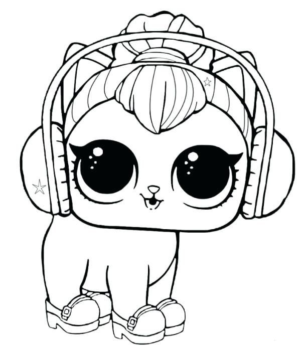 Lol Surprise Punk Boy Coloring Pages Kitty Coloring Dog