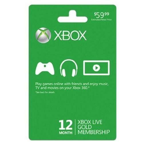 28 off Xbox Live 12-Month Gold Membership  $4299 + Free S H - free membership cards online