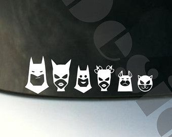 Your Choice Of  Batman Bat Family Decals  Please READ - Family car sticker decals