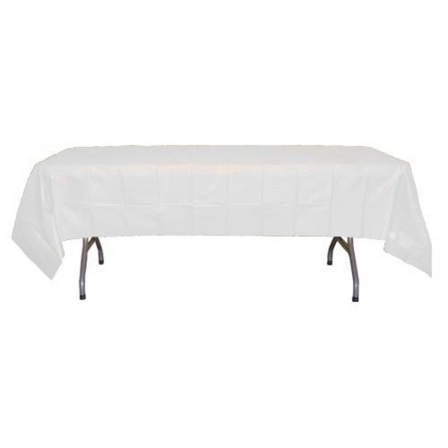 White Plastic Table Cover Factory Direct Party $1.10 Each