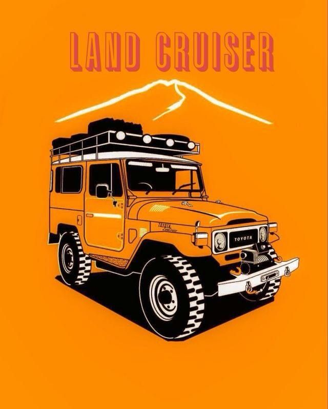 Vintage 1977 Toyota Land Cruiser FJ40 Painting