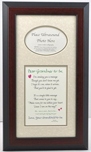 Grandma To Be Ultrasound Picture Frame 7x14 Sonogram Gift