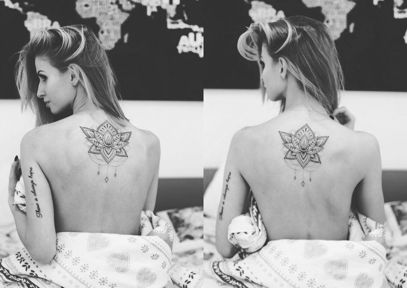 Mój Nowy Tatuaż Kwiat Lotosu Tattoos Pinterest Tattoos