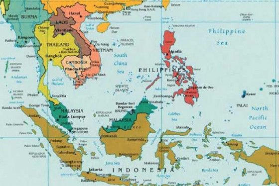 SouthEast Asia map TO VISIT Pinterest East asia map Asia map