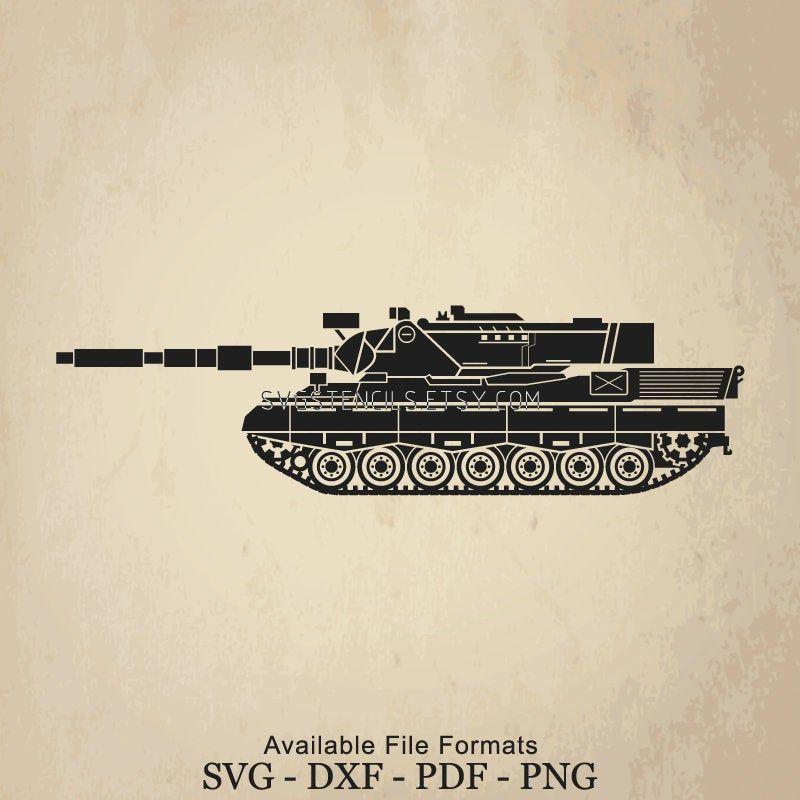 Clip Art Silhouette Studio Vector Monogram Black SVG Leopard Tank Line Art Stencil Images for Cut Files or Prints