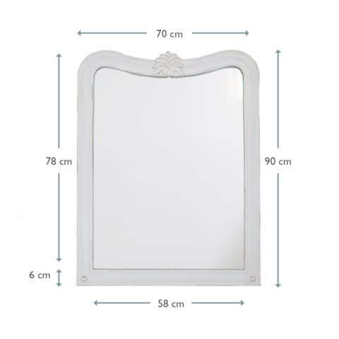 Hand Carved White Mirror | Artie | Loaf