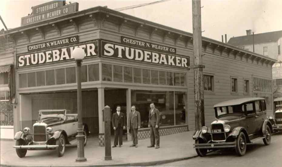 Chester N Studebaker, Car dealership, Car showroom