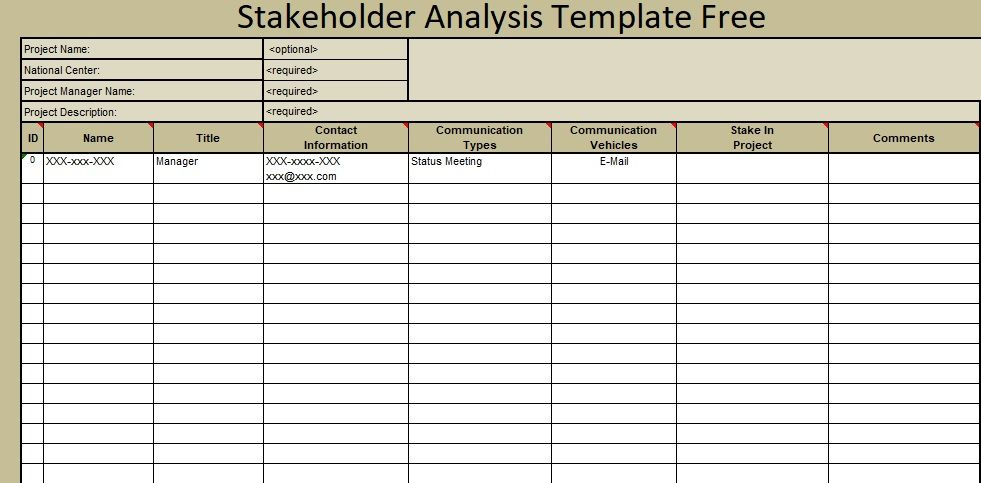 In business Stakeholder Analysis Template Free are very helping ...