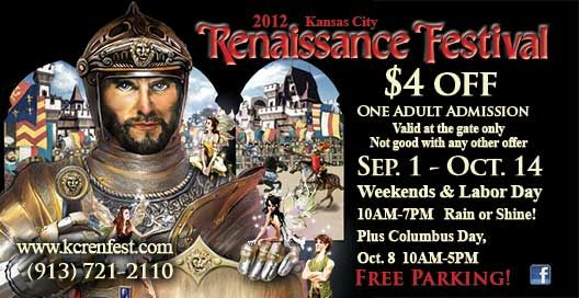 graphic relating to Renaissance Festival Coupons Printable named Kansas Metropolis Renaissance Competition Coupon, Woot! Print on the internet