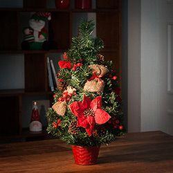 Arvore De Mesa Decorada 60cm Orb Christmas Enfeites De Natal