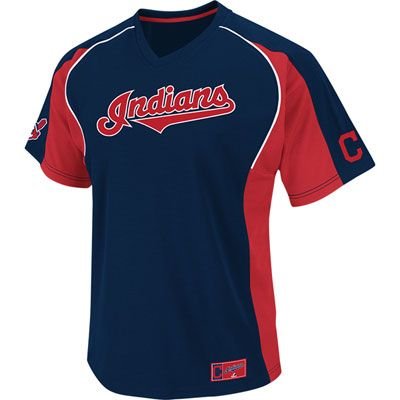 50dc0b17 Cleveland Indians Majestic Clean Up Hitter V-Neck Jersey | Apparel ...