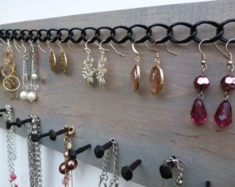 Jewelry Storage Necklace Holder Earring Organizer Display Wall