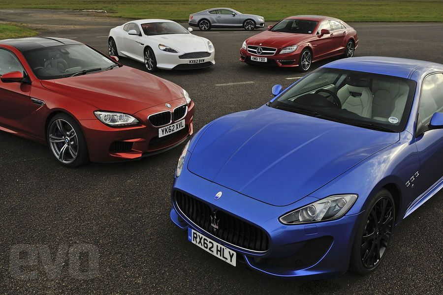 Maserati GranTurismo Sport vs Mercedes CLS 63 AMG, BMW M6