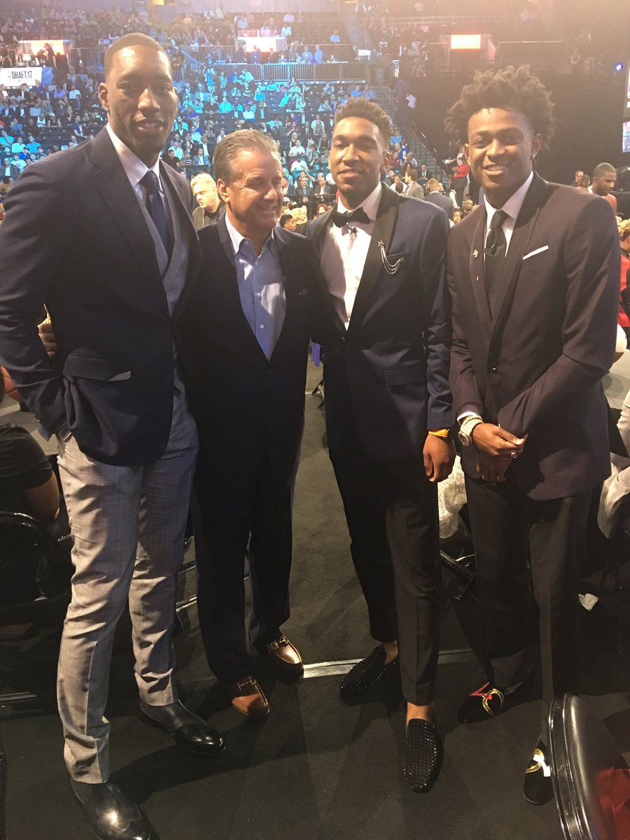 06-22-2017 Coach John Calipari has established a reputation for getting his Kentucky players into the NBA and the 2017 draft was no exception. Former Wildcats De'Aaron Fox, Malik Monk and Bam Adebayo were all selected in the lottery.