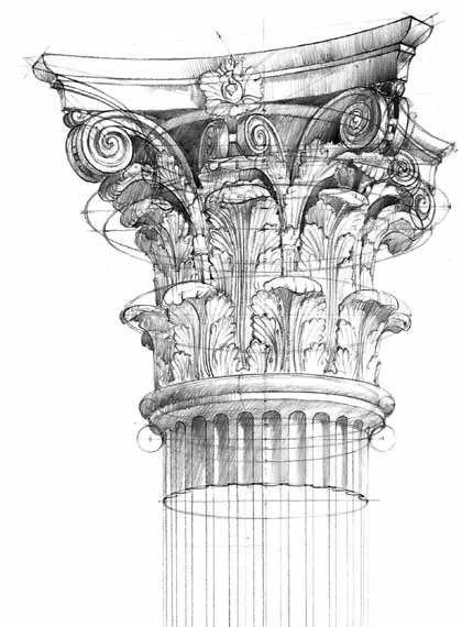 Zeichnen Lernen Bleistift Zeichnungen Architektur Skizzen Des Altertums Klassische Zeichnungsskizzen Ideen Furs