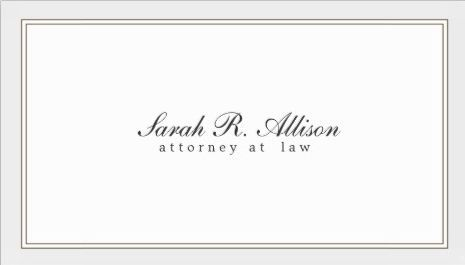 Simple and elegant attorney white with border template business simple and elegant attorney white with border template business cards cheaphphosting Images