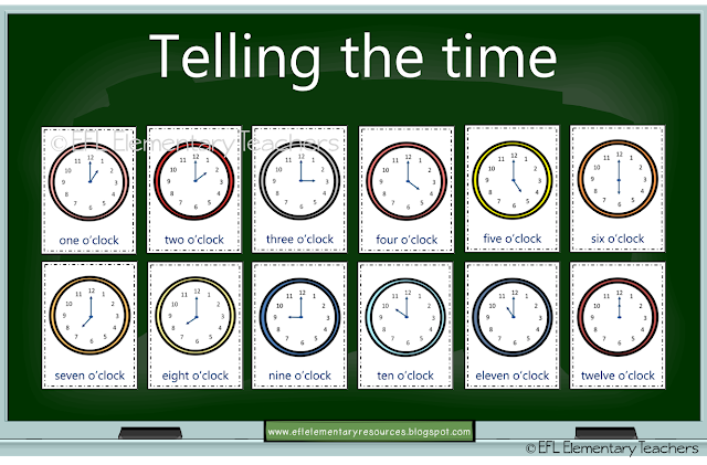 Esl Telling The Time Start With O Clock Place A Random Flashcard On Th Elementary Special Education Activities Elementary Teacher Special Education Elementary