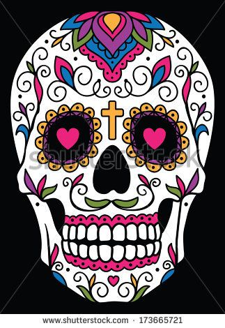 halloween all saints day day of the dead sugar skull halloweenmexican - Mexican Halloween Skulls