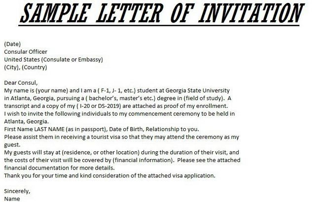 Image Result For Graduation Official Letter For Visa  Invitation