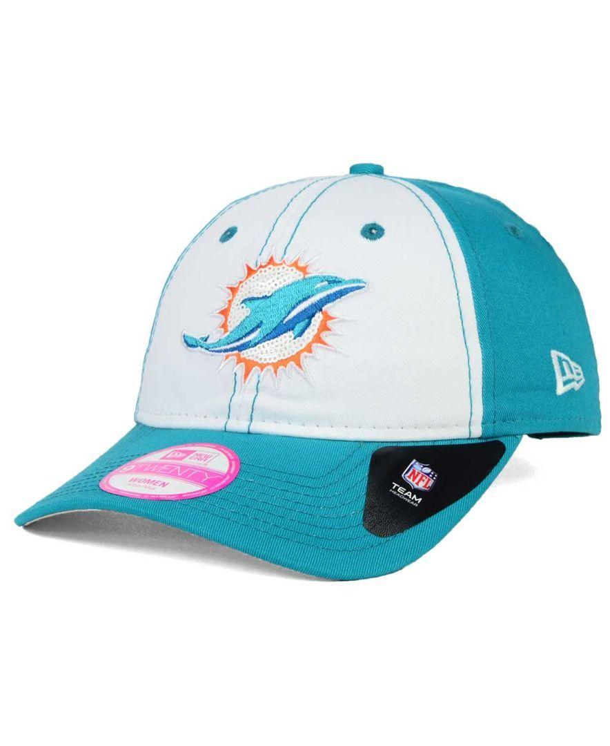 b9c25a3ce412 New Era Women s Miami Dolphins Team Glimmer 9TWENTY Cap