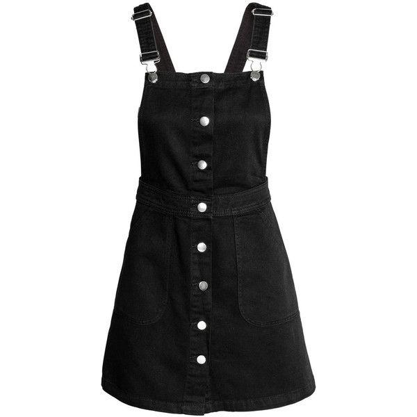 Denim Bib Overall Dress 34 99 Found On Polyvore Featuring